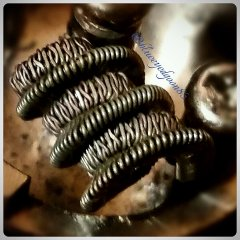 Triple strand 24g flattened fused clapton coiled